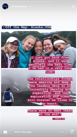 "Student reflection following a trip to Alaska: ""It was genuinely the best time I've had in a very long time."""