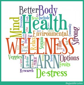 Health and Wellness related word design